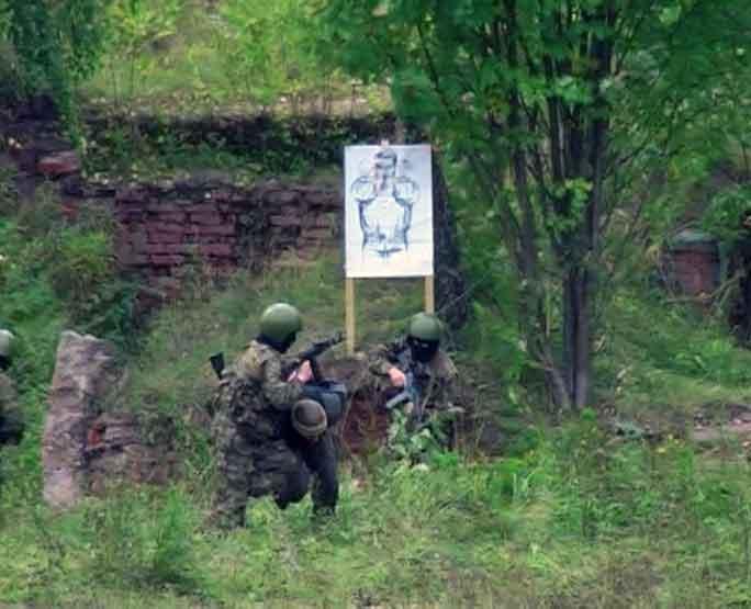 Учения спецназовцев