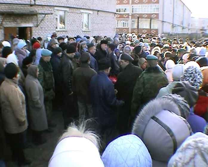 Похороны курсанта рязанского училища ВДВ Эдуарда Камалеева