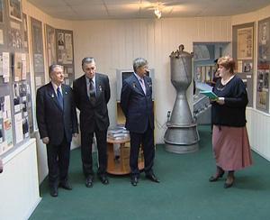 Открытие выставки в музее Циолковского, авиации и космонавтики