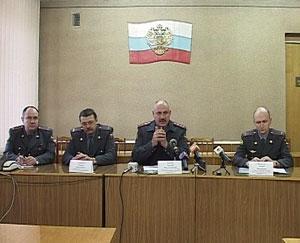 Пресс-конференция в УВД Кировской области