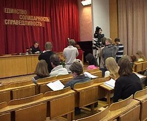 Первая встреча Валерия Лазарева с журналистами