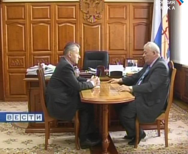 Рабочая встреча губернатора с главой Унинского района