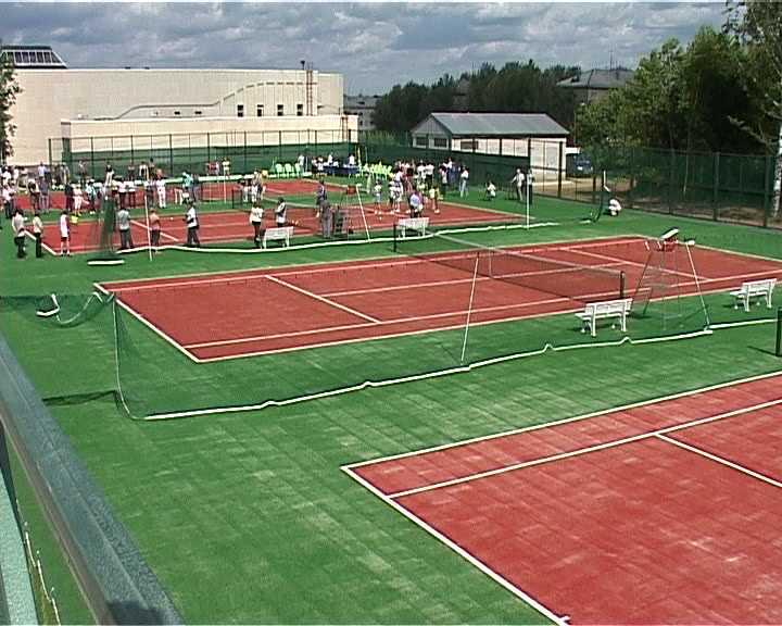 Открытие теннисного центра