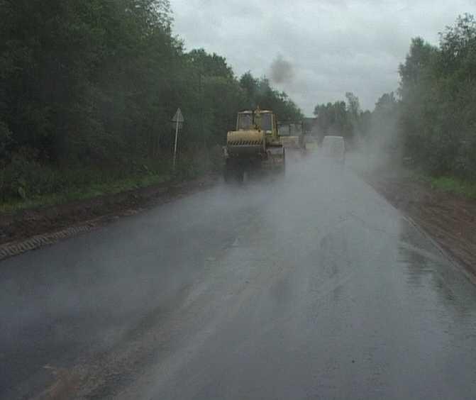 Ведутся работы по восстановлению самой проблемной трассы Кирово-Чепецкого района