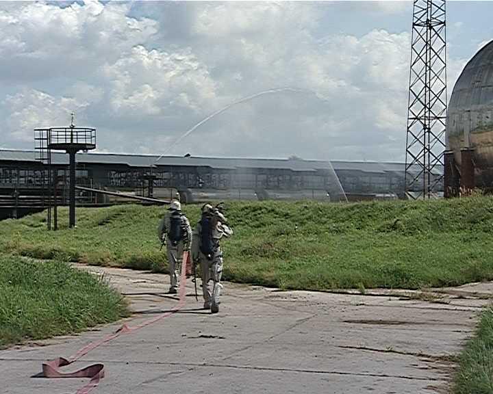 Масштабные учения на заводе минеральных удобрений