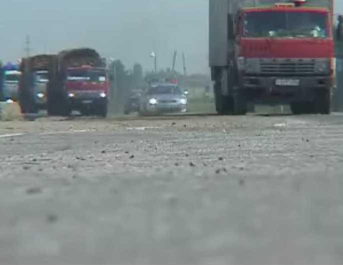 Автоколонна с гуманитарным грузом движется в сторону Цхинвали