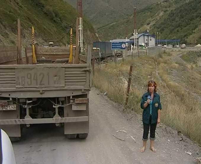 Кировская автоколонна возвращается из Южной Осетии