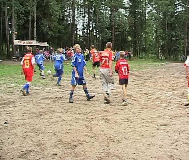 Открытие детского футбольного стадиона в слободе Сошени