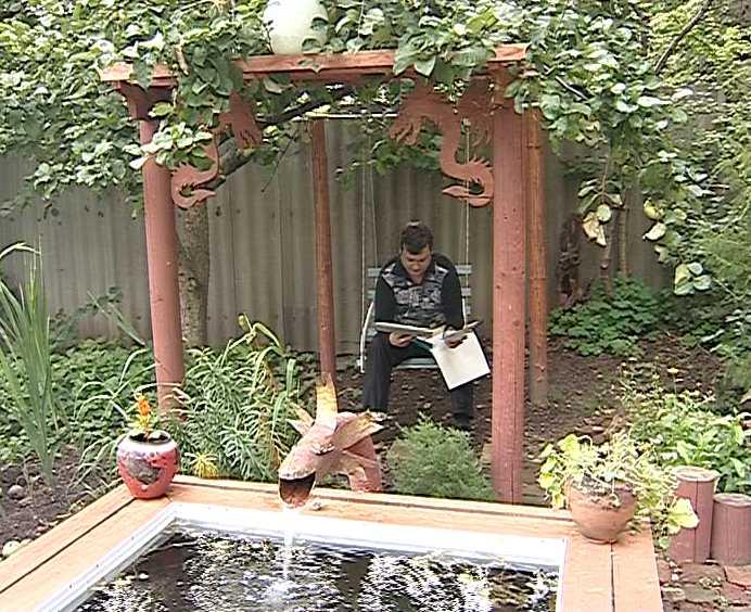 Отдых на садовом участке