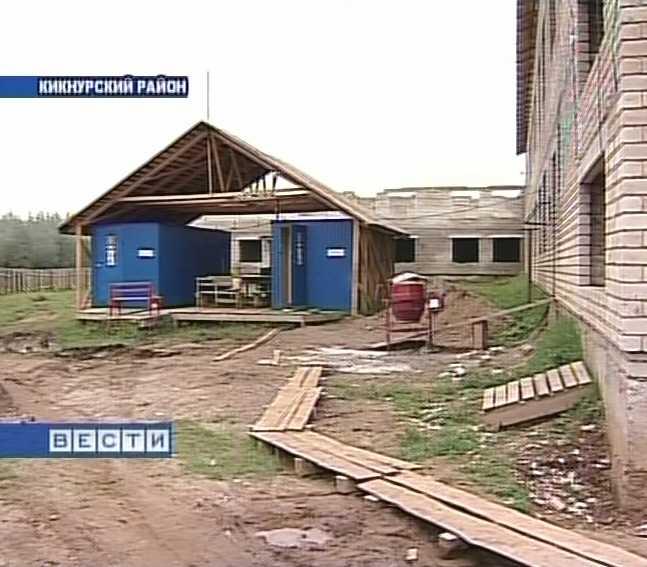 Строительство школы в селе Русские края Кикнурского района