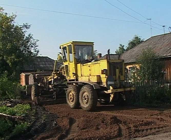 Ремонт дорог в поселке Мирный