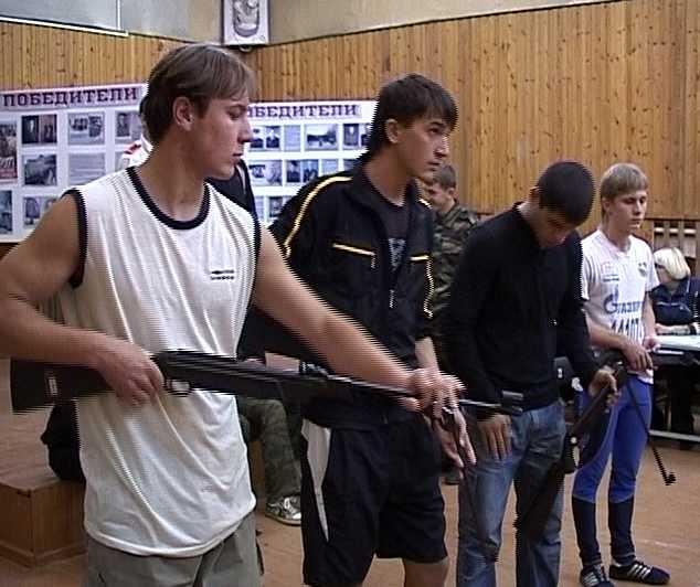 Военизированные соревнования в школе № 40