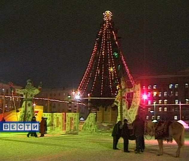 Новогодние сюрпризы на Театральной площади