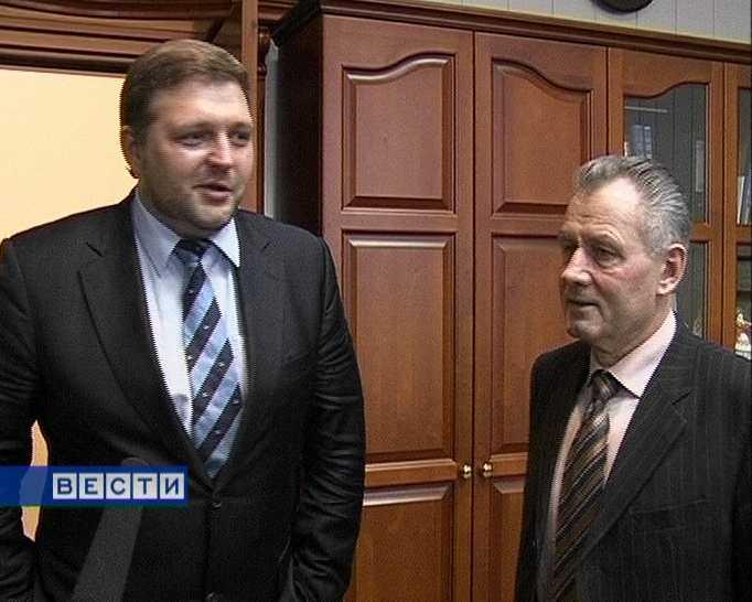 Рабочая встреча  Николая Шаклеина и  Никиты Белых