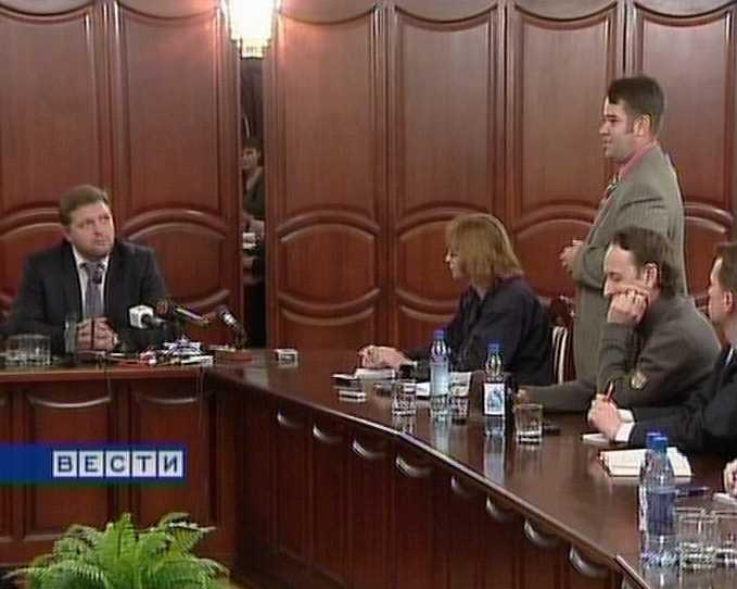 Первая встреча Никиты Белых с журналистами