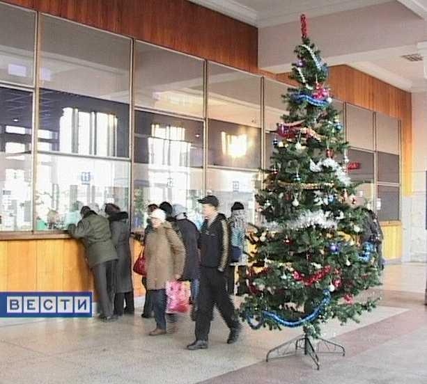Железнодорожный вокзал готовится к Новому году