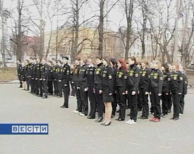Кадеты готовятся к параду Победы