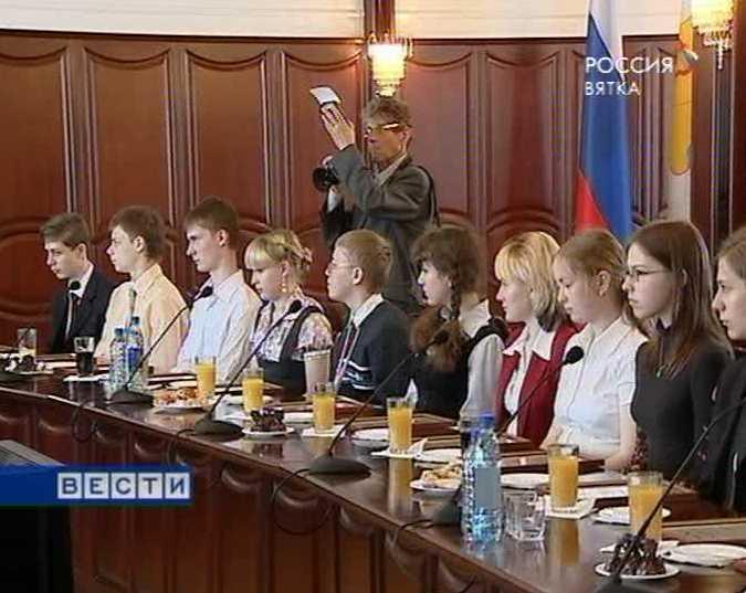 Встреча Никиты Белых с одаренными школьниками