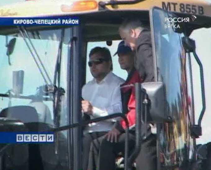 Визит губернатора в Кирово-Чепецкий район