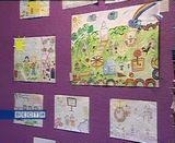 Двор своей мечты рисуют дети
