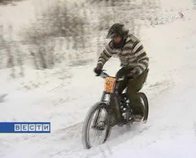 Снег из - под колес