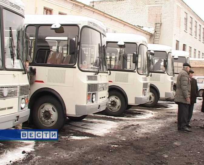 Новые автобусы для районов области
