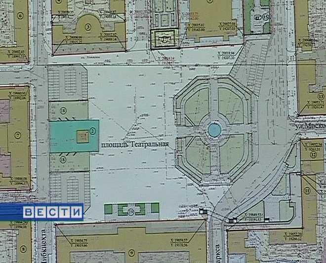 Проект планировки Театральной площади