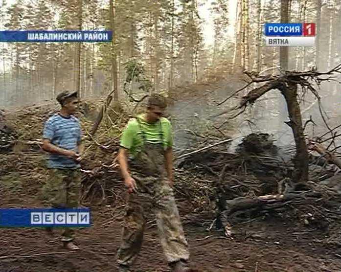 Пожар в Шабалинском районе