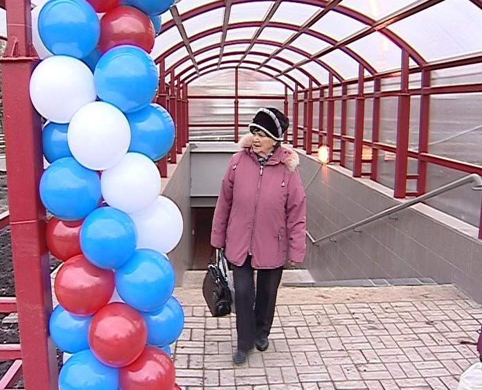 Новый подземный переход в районе площади маршала Конева