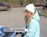 На углу улиц Красноармейской и Большевиков нет тротуара