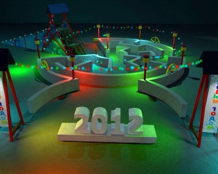 Новогоднее оформление Театральной площади