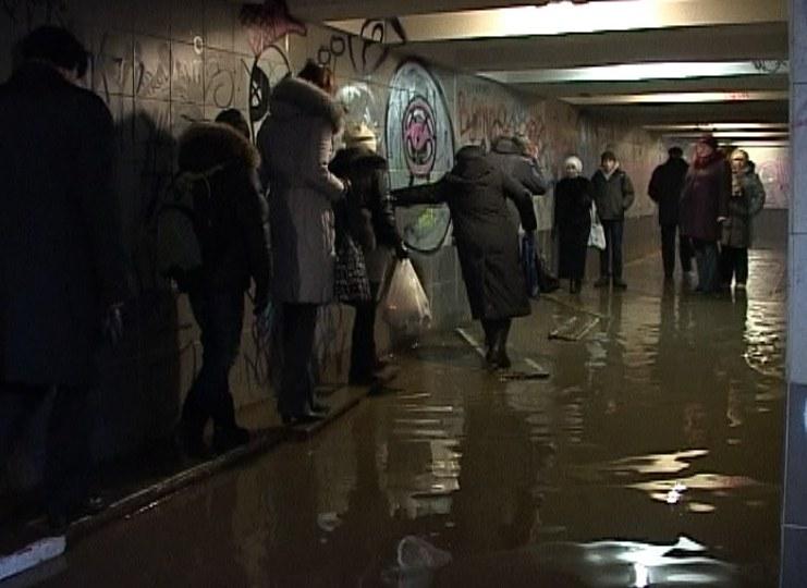 Подземный переход затопило