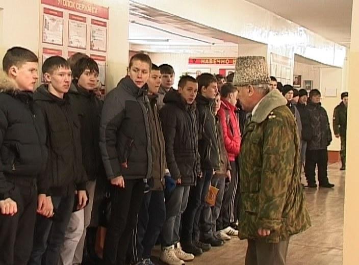 Экскурсия школьников в воинскую часть