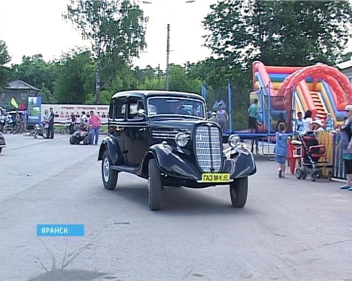 Парад ретро-автомобилей в Яранске