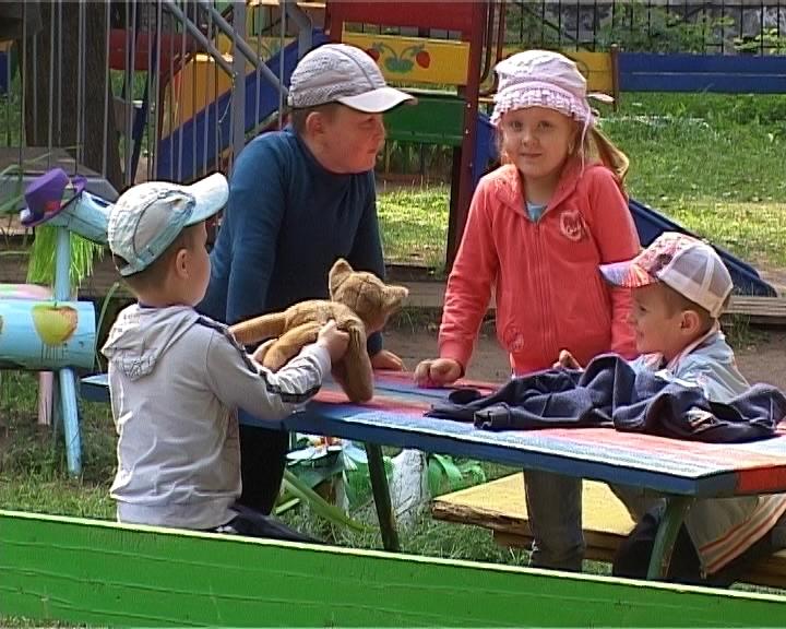 Новый забор в детском саду