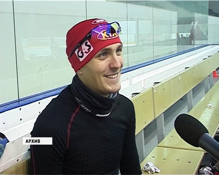Конькобежец Алексей Суворов в Кирове