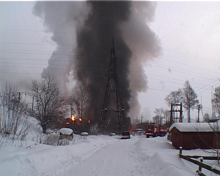 Видео с места аварии поезда в Нововятском районе города Кирова