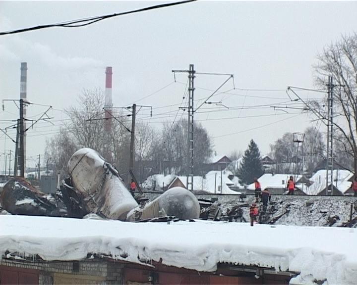 Предварительная причина крушения грузового состава в Нововятском районе города Кирова