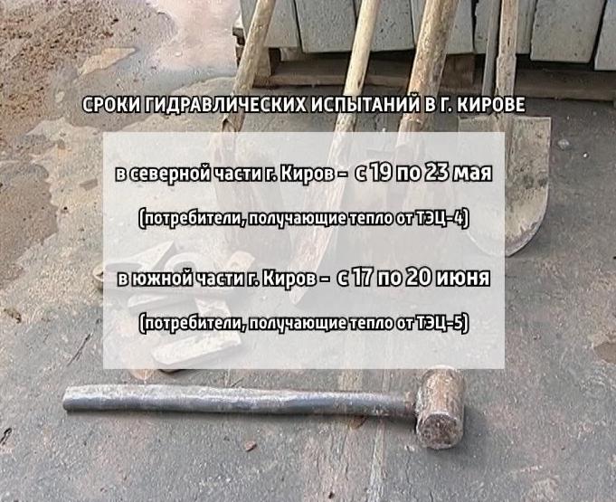 Гидравлические испытания в городе Кирове