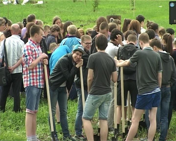 Посадка деревьев в рамках социального проекта