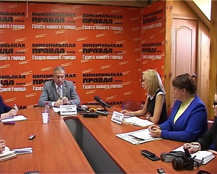 Пресс-конференция главы города Кирова Владимира Быкова