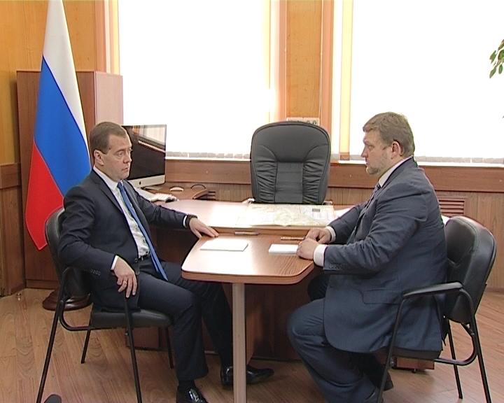 Встреча Дмитрия Медведева с губернатором Кировской области Никитой Белых
