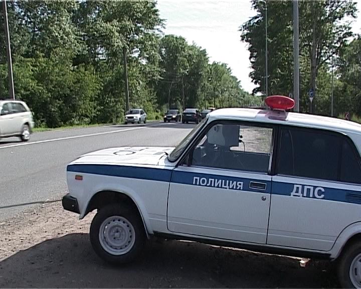 Муляж машины дорожно-патрульной службы