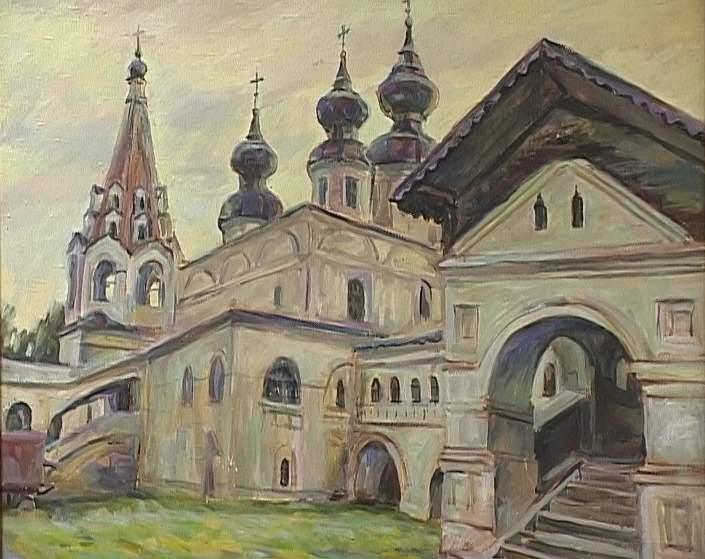 Выставка Владимира Двинянинова в выставочном зале детской художественной школы