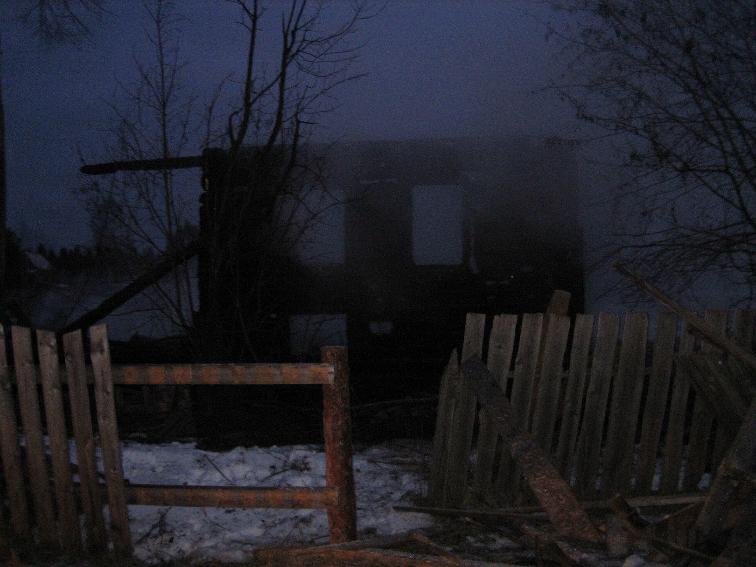 В Омутнинском районе сгорел дом.