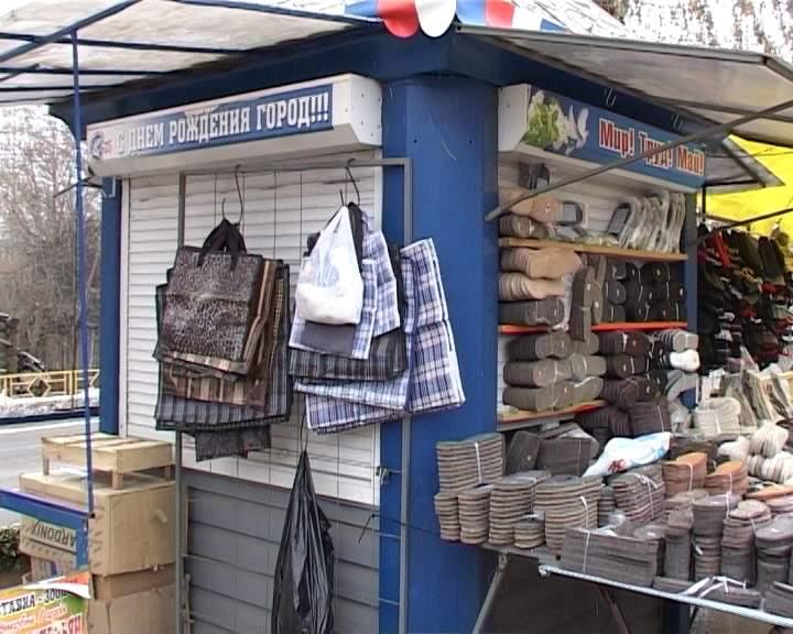 Проверка работы торговых павильонов в Первомайском районе
