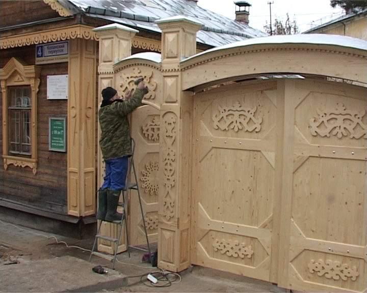 Новые ворота музея-усадьбы Николая Хохрякова