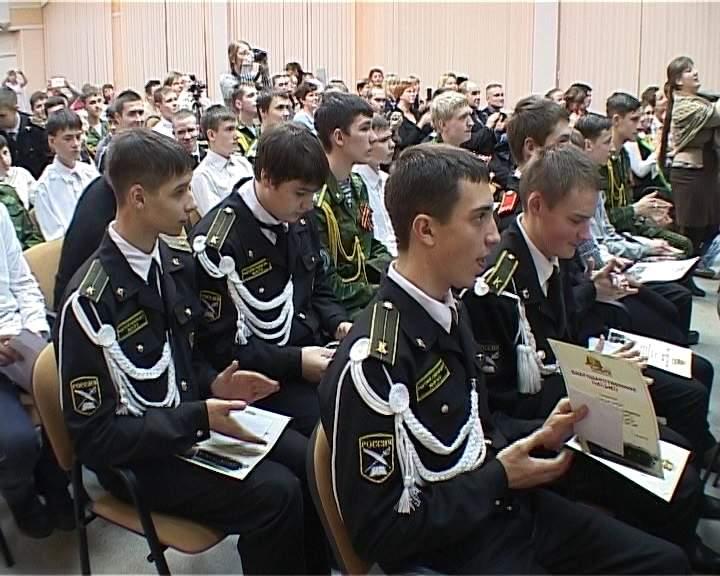 Встреча главы города Кирова Владимира Быкова с кадетами