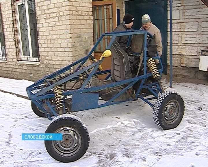 Школьник из Слободского сконструировал багги - самодельный автомобиль