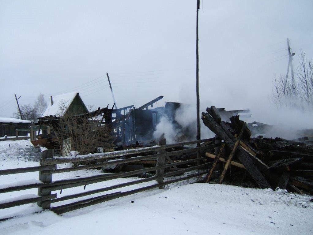Пожар в Афанасьевском районе.
